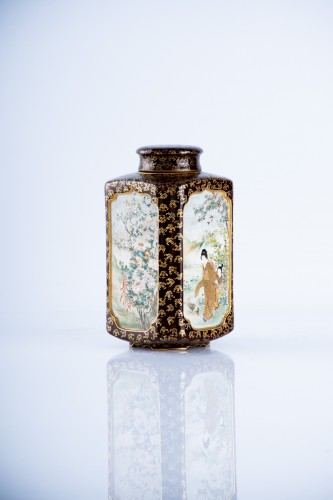 Kinkozan Sobei - A Japanese Satsuma tea caddy - Asian Art & Antiques Style