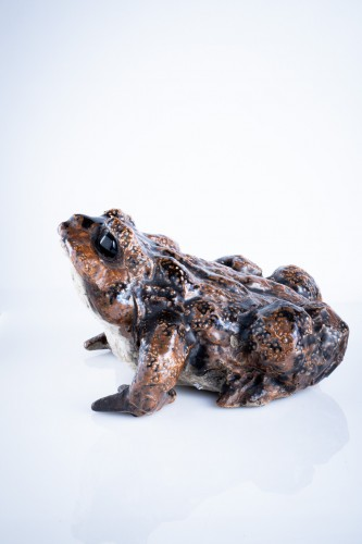A Japanese okimono of a toad  - Asian Works of Art Style