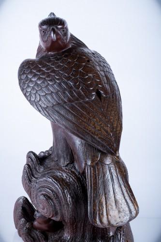 Asian Art & Antiques  - A Japanese study of an hawk