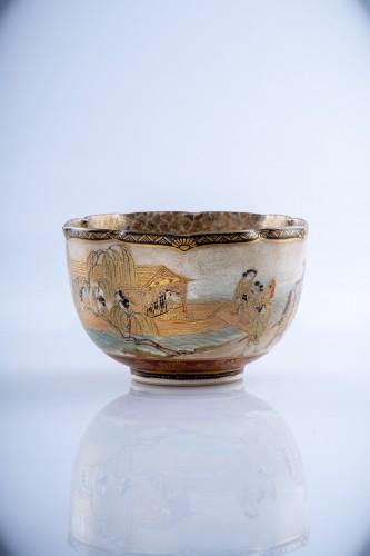 Juzan - A Japanese Satsuma bowl  - Asian Works of Art Style