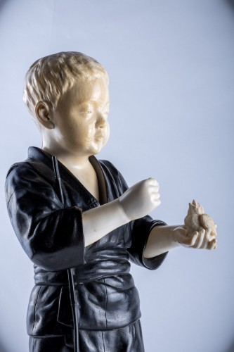 Hiroko - A Japanese Tokyo school ivory and bronze okimono of a child - Asian Works of Art Style