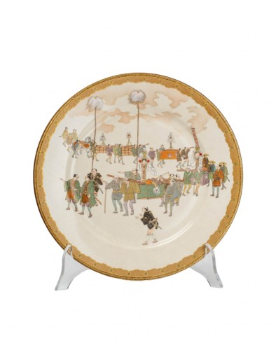 Kinkozan - A Japanese Satsuma plate