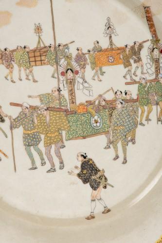 Kinkozan - A Japanese Satsuma plate - Asian Art & Antiques Style