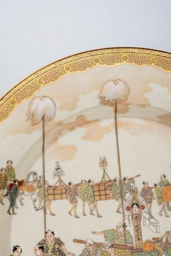 Asian Art & Antiques  - Kinkozan - A Japanese Satsuma plate