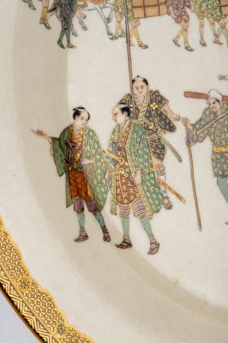 19th century - Kinkozan - A Japanese Satsuma plate
