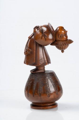 A Japanese okimono of a child -