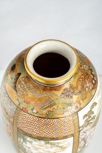 - Okamoto Ryozan - A Japanese Satsuma vase