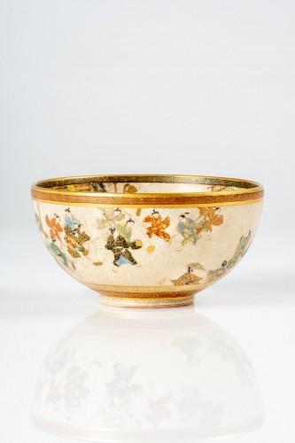 Seikozan  - A Japanese Satsuma tea bowl - Asian Works of Art Style