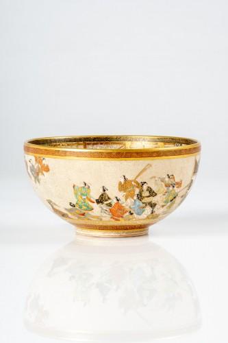 Asian Works of Art  - Seikozan  - A Japanese Satsuma tea bowl