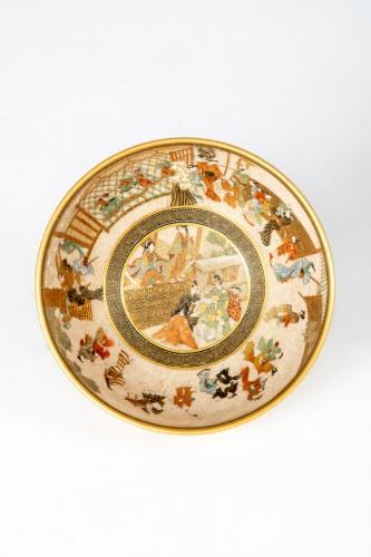 Seikozan  - A Japanese Satsuma tea bowl -