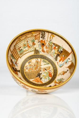 19th century - Seikozan  - A Japanese Satsuma tea bowl