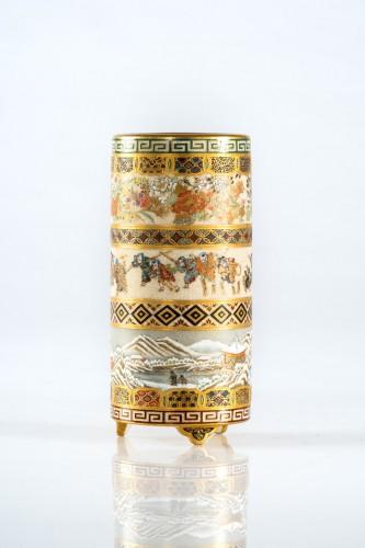 Yabu Meizan - A Japanese Satsuma vase  - Asian Works of Art Style