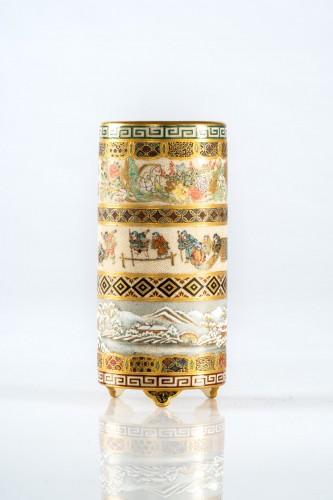 Asian Works of Art  - Yabu Meizan - A Japanese Satsuma vase