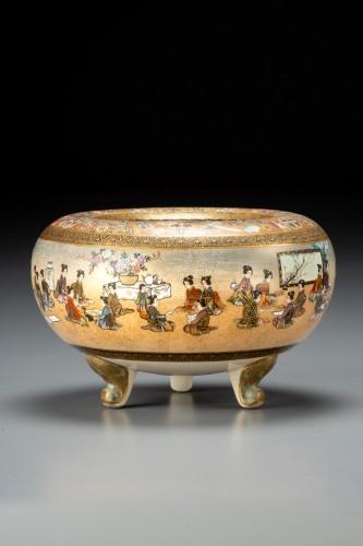 Fuzan for Yasuda company - A Japanese Satsuma bowl - Asian Works of Art Style