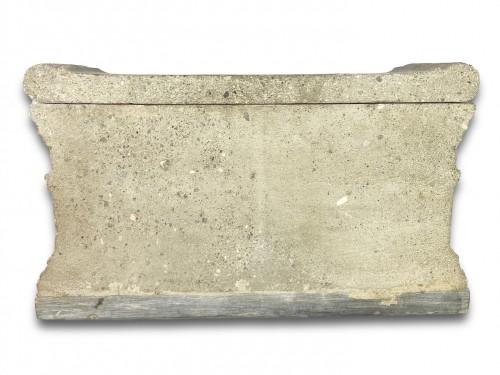 Lava stone model of a tomb of the Scipio's. Italian, early 19th century. -