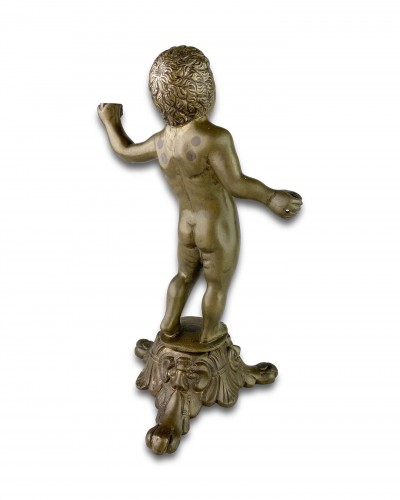 Bronze sculpture of a putto. Nuremberg, first half of the 16th century. -