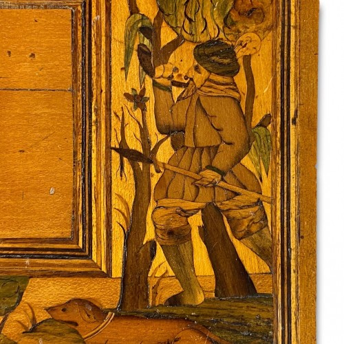 Furniture  - Marquetry table cabinet. South German, first half of the 17th century.
