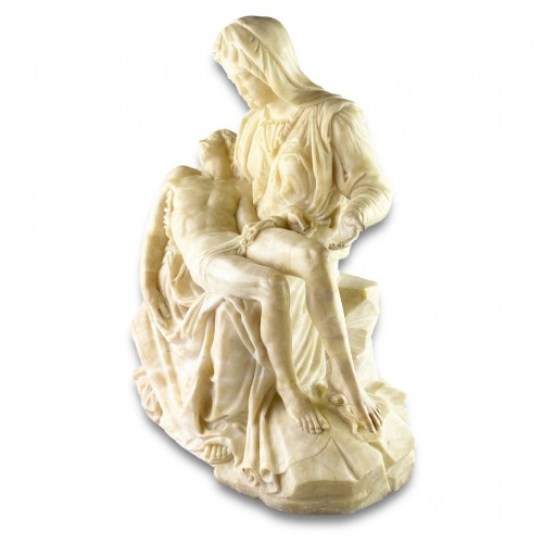 Sculpture  - Alabaster sculpture of the pieta. French or Italian, 17th century.