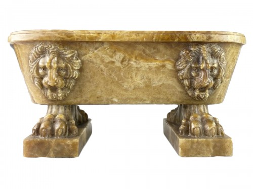 Alabastro fiorito model of a Roman bath. Italian, early 19th century.