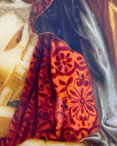 Alabaster painting of Saint Catherine. Florentine, 17th century. - Paintings & Drawings Style