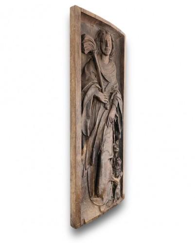 Oak Saint Martha. French, early 16th century. - Sculpture Style