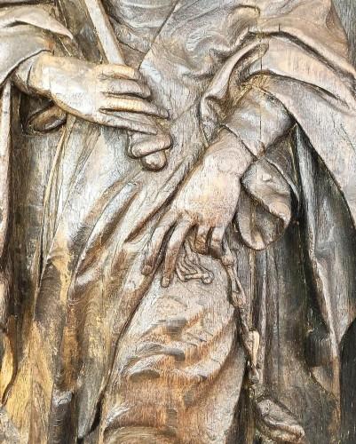 <= 16th century - Oak Saint Martha. French, early 16th century.