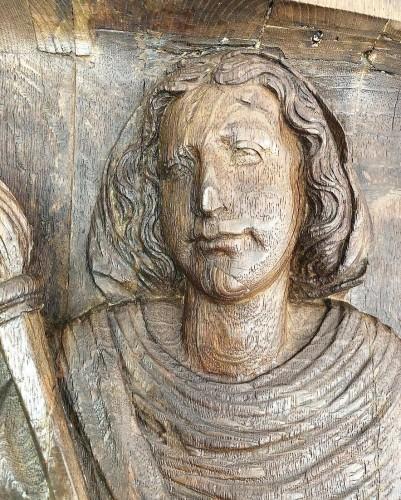Antiquités - Oak Saint Martha. French, early 16th century.