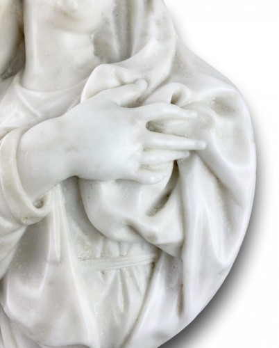 Sculpture  - Marble relief of our lady of sorrows. Italian, mid 17th century.