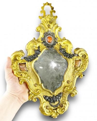 18th century - Ormolu coral mirror. Italian, mid 18th century.