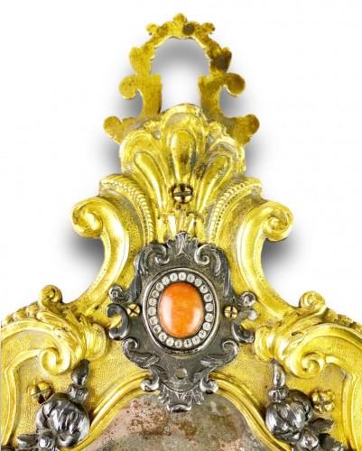 - Ormolu coral mirror. Italian, mid 18th century.