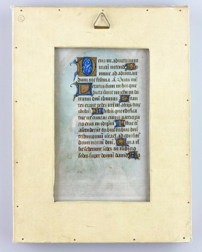 Antiquités - Flight into Egypt manuscript page. French, possibly Paris, 16th century.