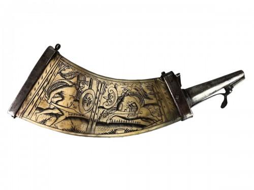 Powder Flask, Germany mid 17th century