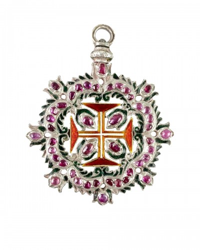Ruby order of Christ. Portuguese 18th century
