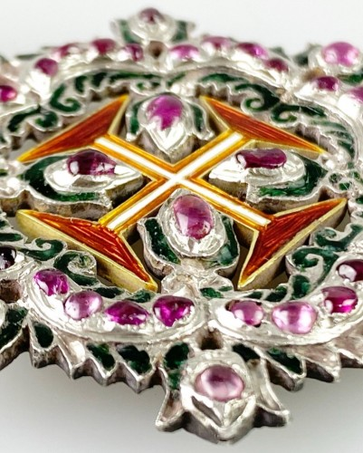 Ruby order of Christ. Portuguese 18th century - Antique Jewellery Style