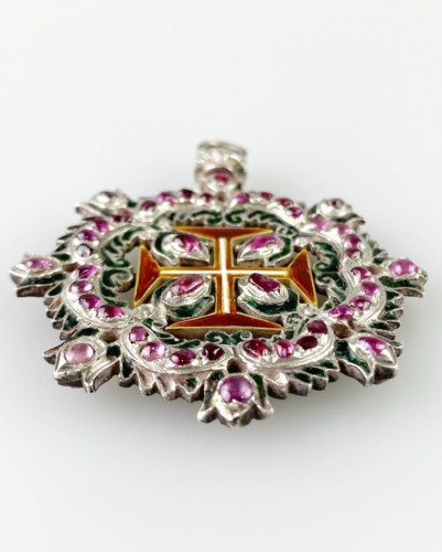 Ruby order of Christ. Portuguese 18th century -