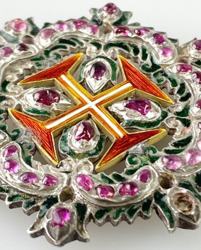Antiquités - Ruby order of Christ. Portuguese 18th century