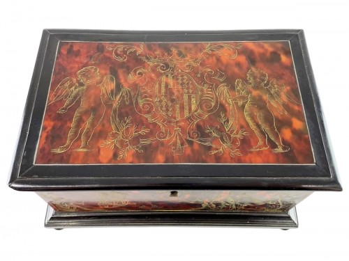 Tortoiseshell casket. Italian or Spanish, late 17th century