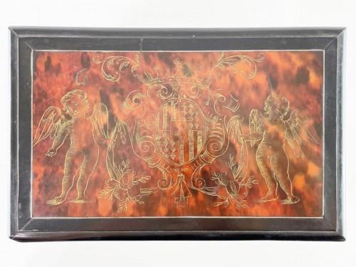Tortoiseshell casket. Italian or Spanish, late 17th century - Curiosities Style
