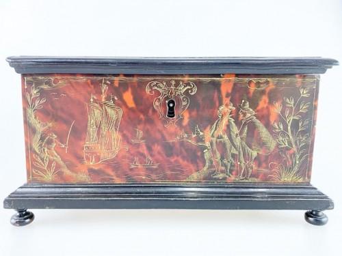 Tortoiseshell casket. Italian or Spanish, late 17th century -