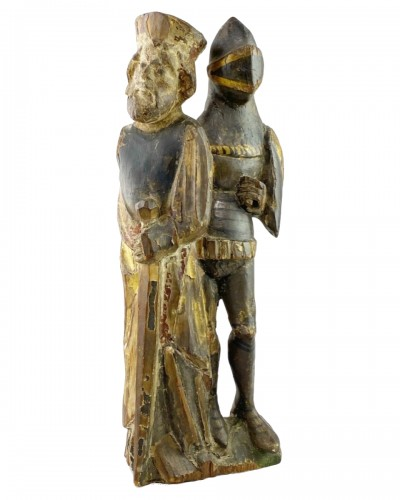 Retable of two knights, Flemish, early 16th century