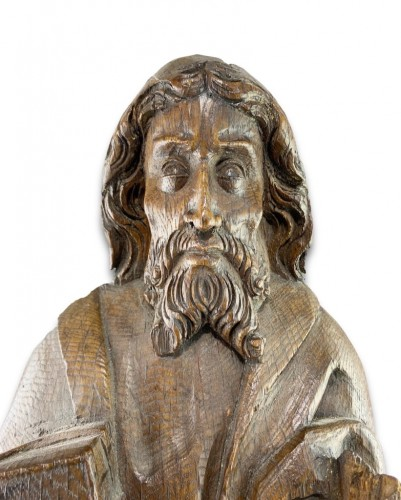 Oak relief of a male saint. Northern Germany, early 16th century - Sculpture Style
