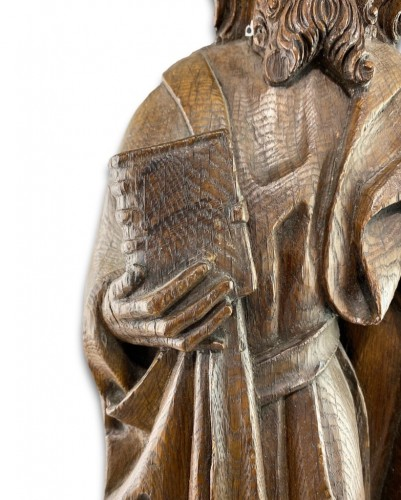 Sculpture  - Oak relief of a male saint. Northern Germany, early 16th century