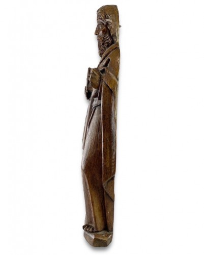 Oak relief of a male saint. Northern Germany, early 16th century -