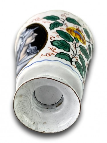 - Enamel beaker with classical profiles & flowers. Limoges, 17th century