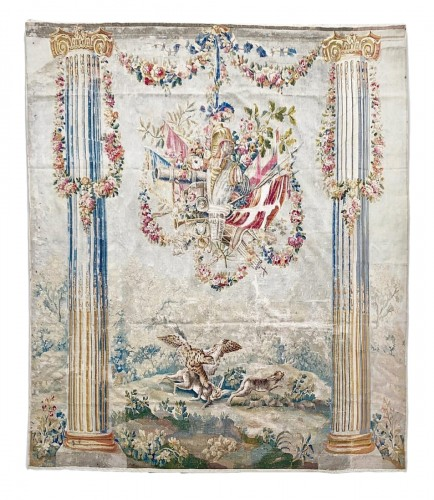 Column tapestry in the style of J.B Huet. Aubusson, c.1780.