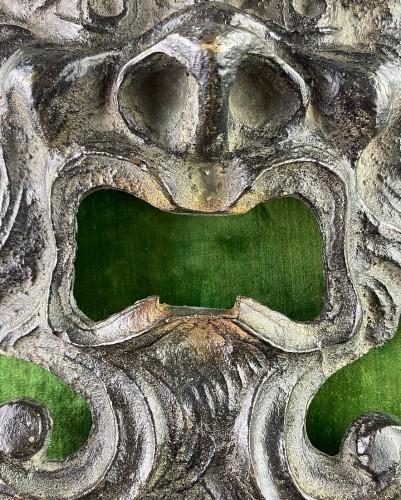 Bronze door knocker back-plate. Northern Italy, late 16th century. -