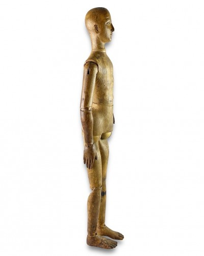Antiquités - Artists lay figure. French, late 19th century