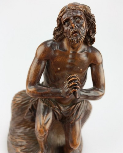 A boxwood sculpture of 'Ecce Homo'. German, mid 17th century. - Sculpture Style
