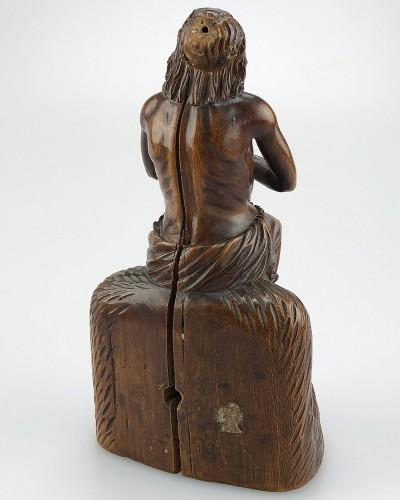 Sculpture  - A boxwood sculpture of 'Ecce Homo'. German, mid 17th century.