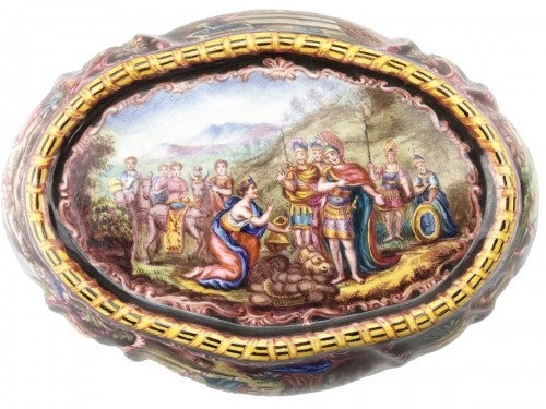 Enamelled dish. German, c.1870.